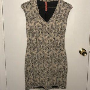 Eight Sixty Large Snake Skin Mini Dress